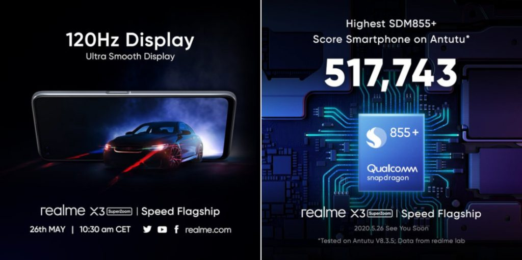 Realme X3 SuperZoom med 60x Zoom, der annonceres den 26. maj [Update: 120Hz display, Snapdragon 855+ confirmed] 1
