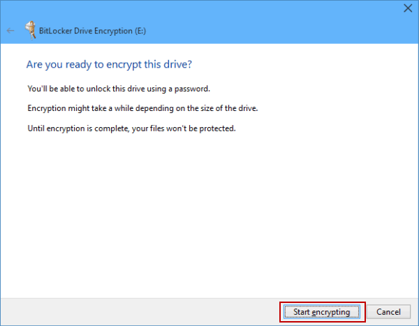 Create Password-Protected Drive in Windows