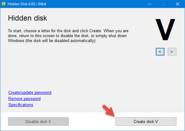 Click on 'Create Disk' button