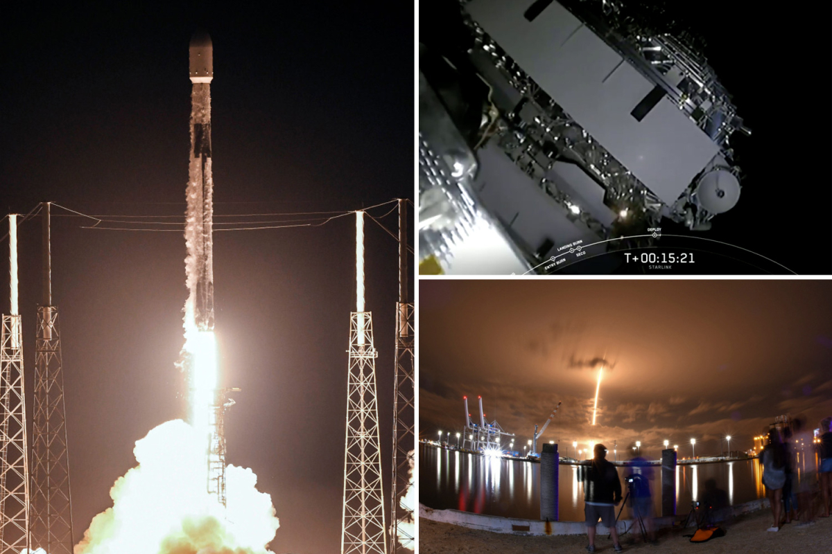 SpaceX launches 60 Starlink satellites into space days after first manned flight